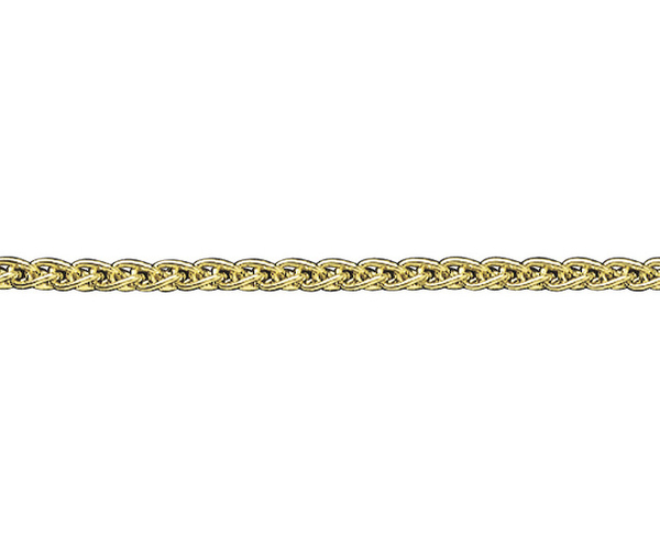 "9ct yellow gold 24"" long spiga link chain"