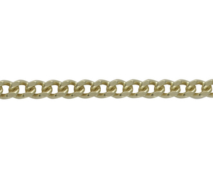 "9ct yellow gold 20"" long filled curb link chain"