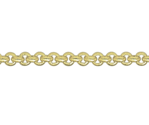 "9ct yellow gold 20"" long belcher link chain"