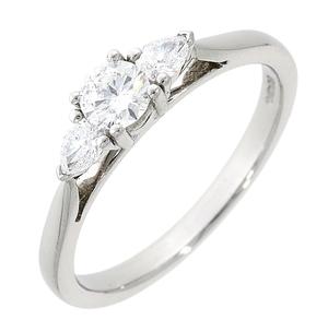 18ct White Gold 0.44ct Diamond Trilogy Ring
