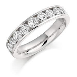 18ct White Gold 1ct Diamond Half Eternity Ring