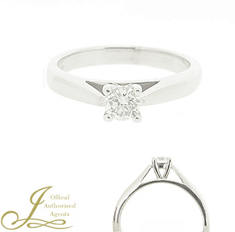 Second Hand Recycled 18ct White Gold 0.21ct Diamond Ring