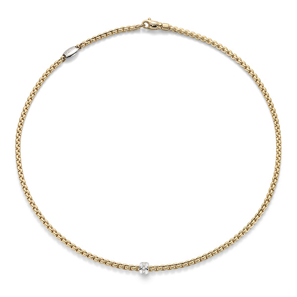 "18ct yellow gold 17"" Fope Flex'It Eka Tiny rope necklace"
