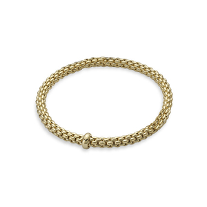Fope 18ct Yellow Gold Flex'It Solo Bangle