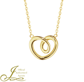 Georg Jensen Small 18ct Yellow Gold Heart Pendant