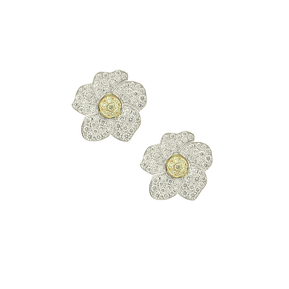 Hulchi Belluni Diamond 'Monoi' Earrings