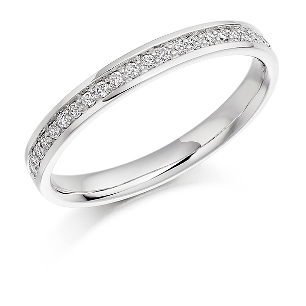 18ct White Gold 0.17ct Diamond Half Eternity
