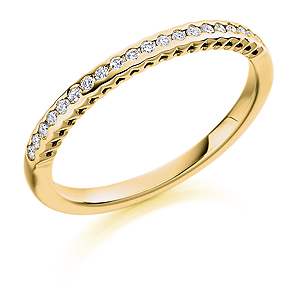 18ct Yellow Gold 0.15ct Diamond Half Eternity Ring