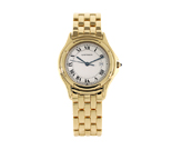 Cartier 18ct Gold Cougar Second Hand Watch