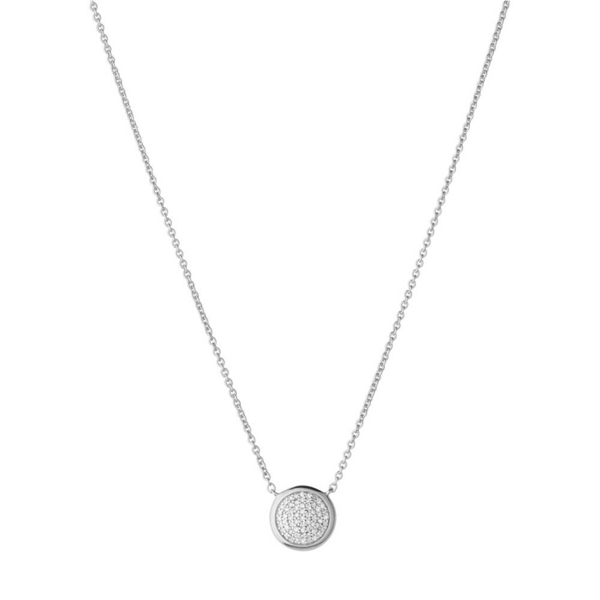 Links of London Sterling Silver circular Diamond Essentials pave set necklace