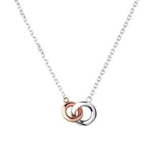 Links of London 20/20 Sterling Silver + 18ct Rose Gold Necklace