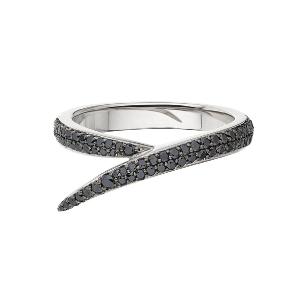 Shaun Leane 18ct White Gold 0.49ct Black Diamond Interlock Me Ring