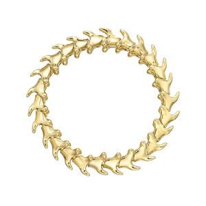 Shaun Leane Yellow Gold Vermeil Serpents Trace Wide Bracelet