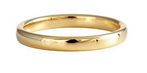 18ct yellow gold 2.5mm court shaped wedding ring