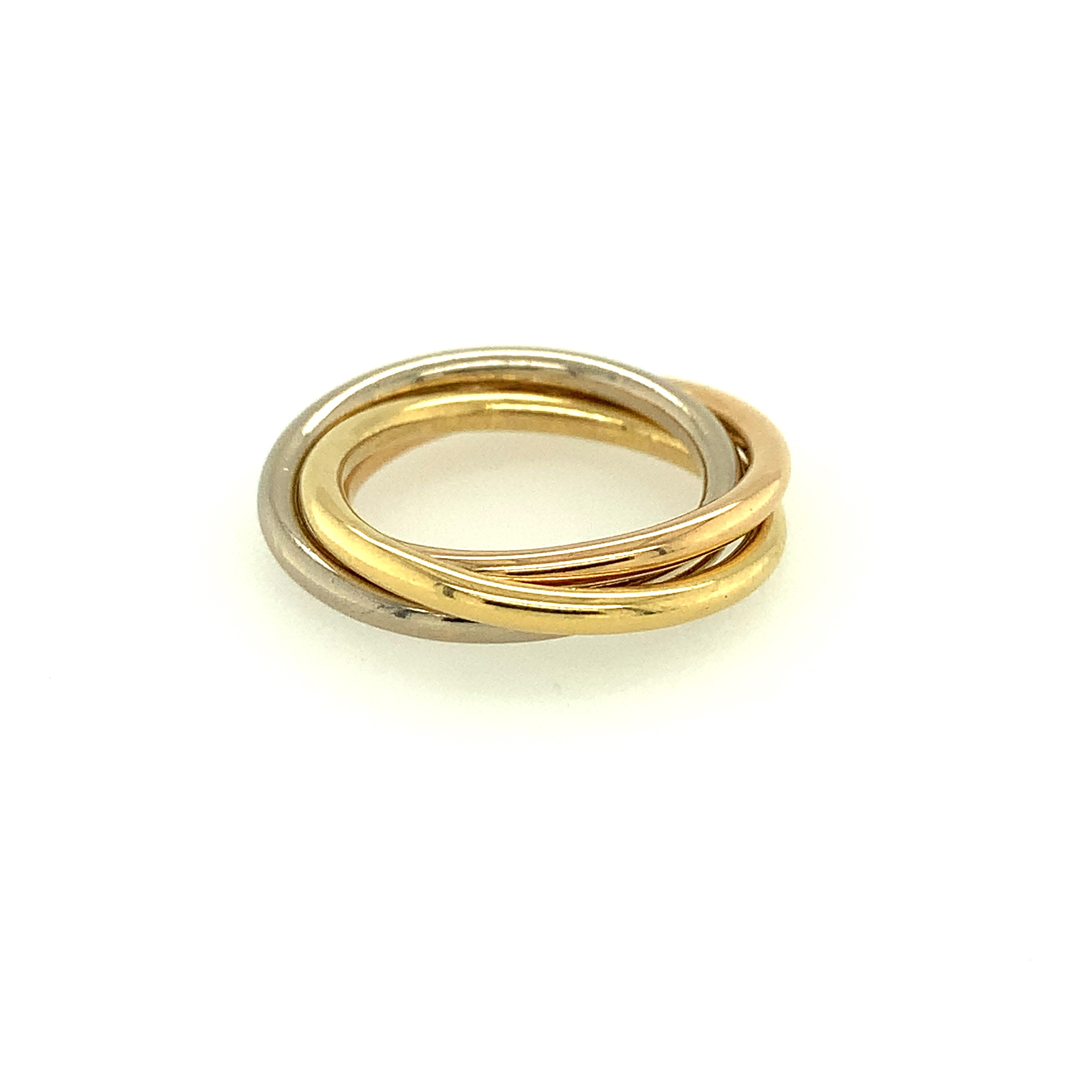 18ct White, Yellow & Rose Gold Russian Wedding Band
