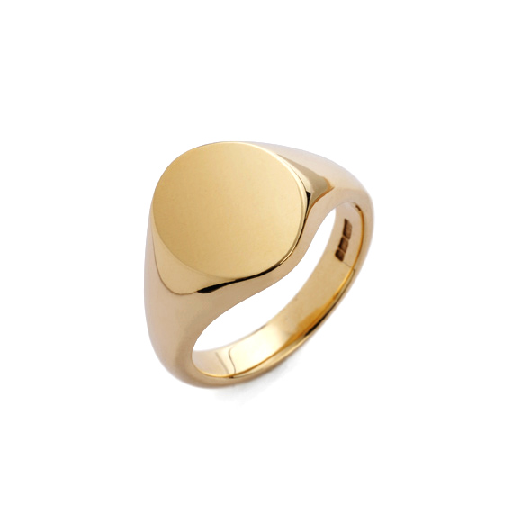 9ct Yellow Gold Oval Portrait Signet Ring