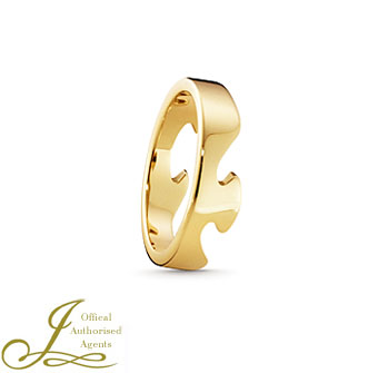 Fusion Yellow Gold End Ring