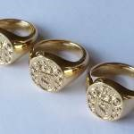 Engraved signet rings