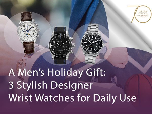 A Men's Holiday Gift: 3 Stylish Designer Wrist Watches for Daily Use image
