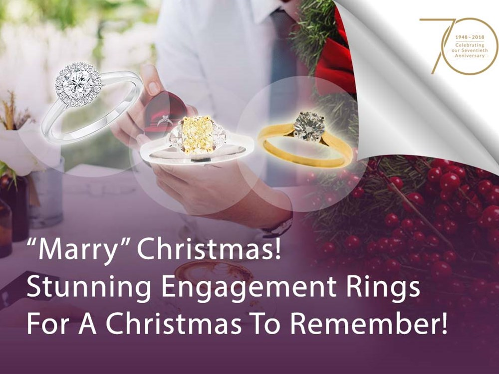 """Marry"" Christmas! Stunning Engagement Rings For A Christmas to Remember!"