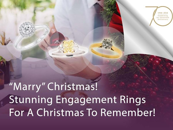 """Marry"" Christmas! Stunning Engagement Rings For A Christmas to Remember! image"