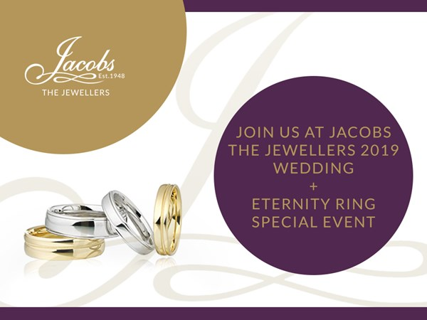 Join Us At Jacobs the Jewellers 2019 Wedding + Eternity Ring Special Event image