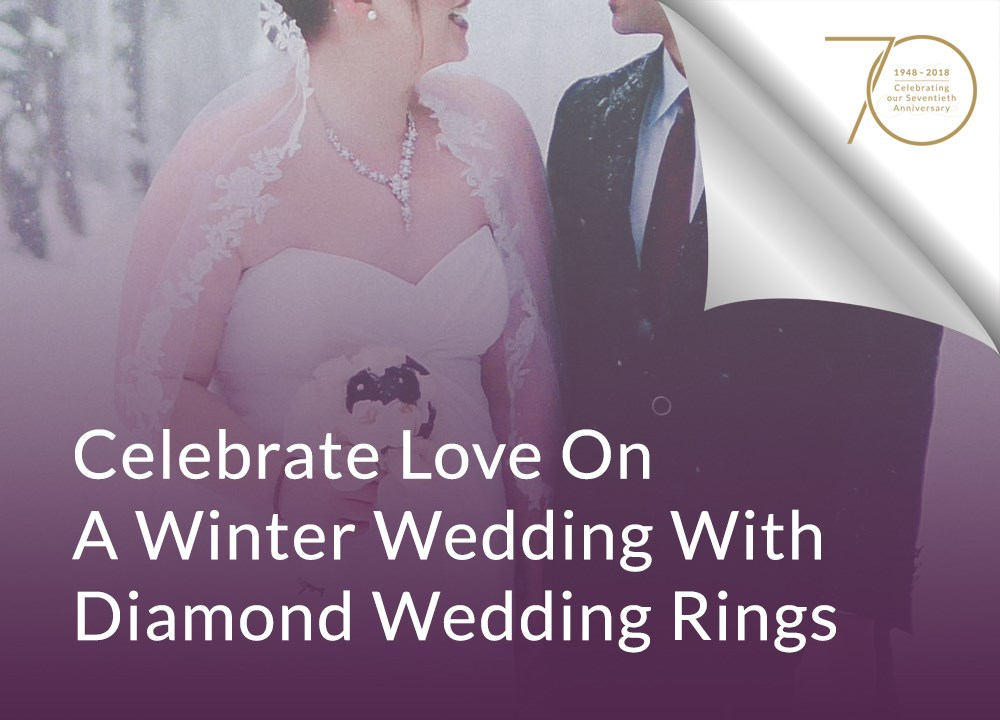 Celebrate Love On A Winter Wedding With Diamond Wedding Rings image