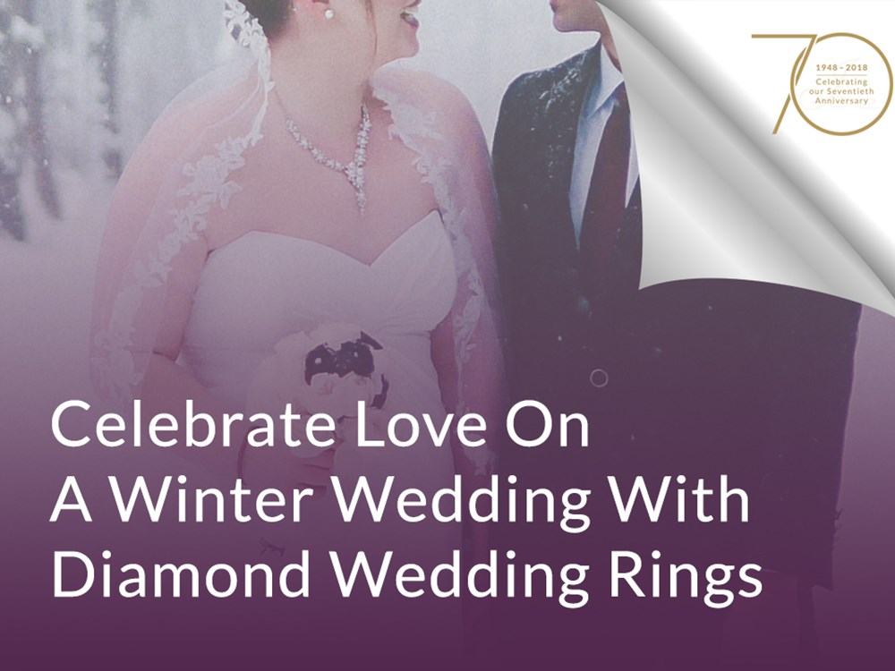 Celebrate Love On A Winter Wedding With Diamond Wedding Rings