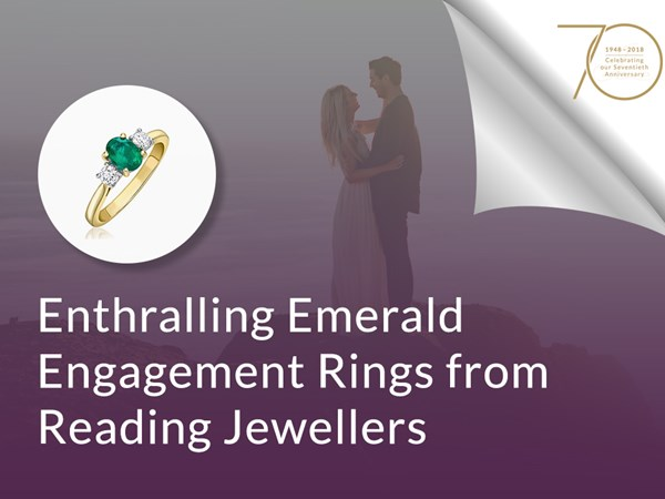 Enthralling Emerald Engagement Rings from Reading Jewellers image