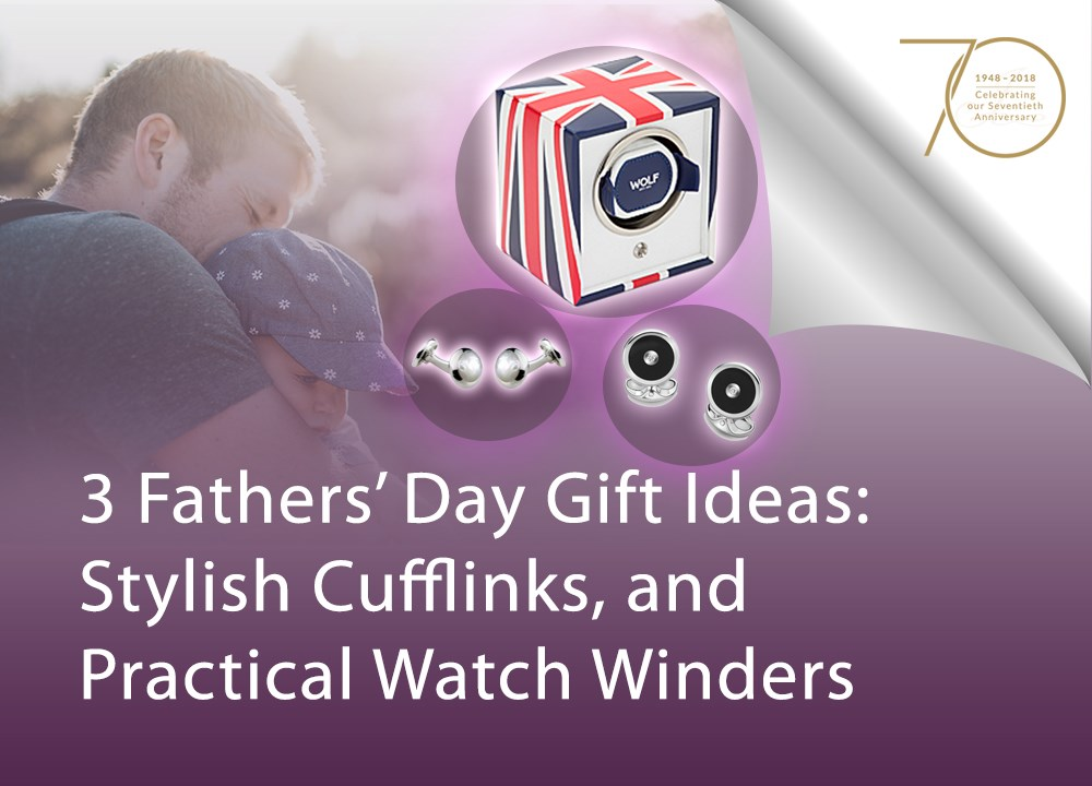 3 Fathers' Day Gift Ideas: Stylish Cufflinks and Practical Watch Winders image