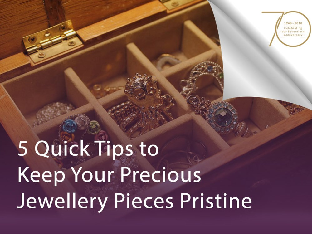 5 Quick Tips to Keep Your Precious Jewellery Pieces Pristine image