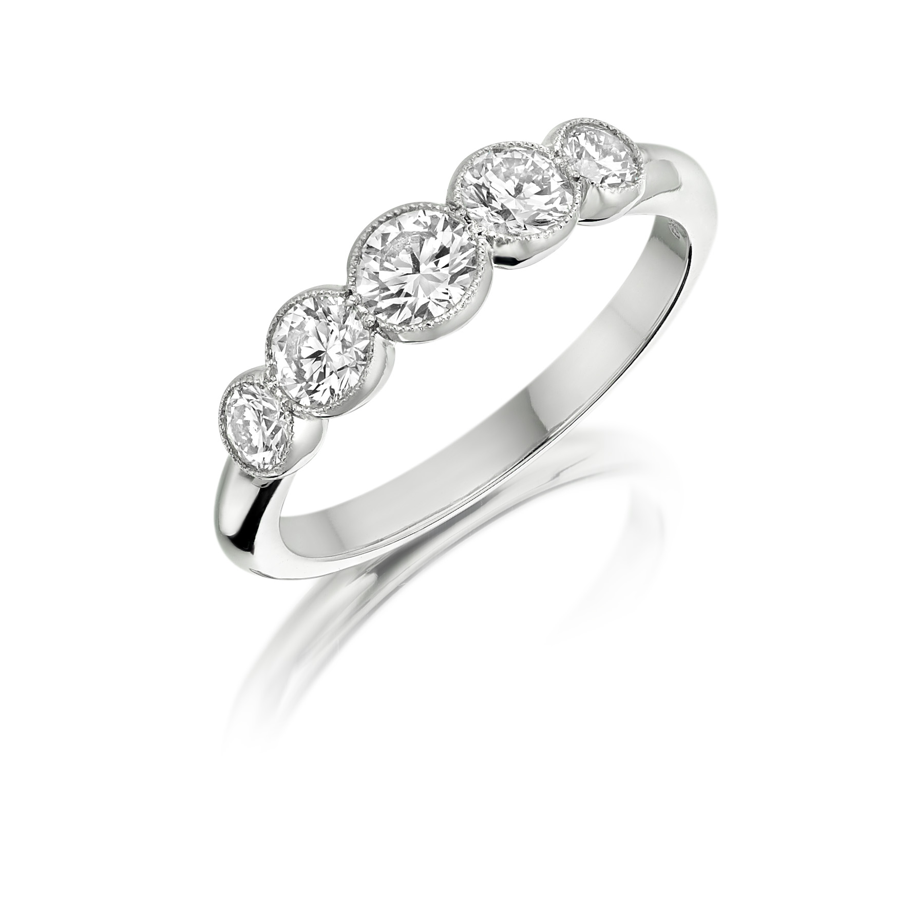 Platinum 0.82ct Multi Diamond Ring