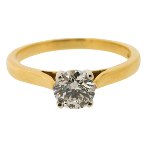 18ct Yellow Gold 0.50ct Solitaire Diamond Ring