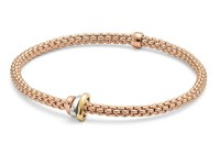 Fope18ct Rose Gold Flex'It Prima Bracelet