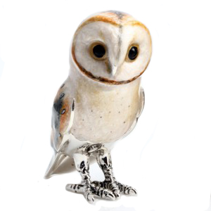 Sterling Silver and Enamel Barn Owl