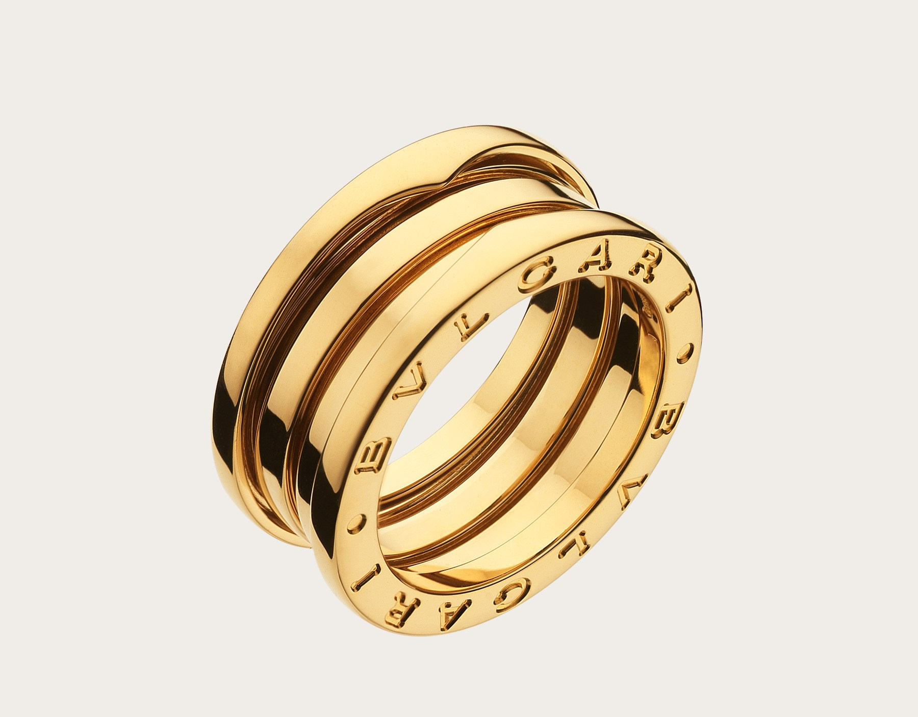 Bulgari BZero1 18ct yellow gold 3 band ring size 50