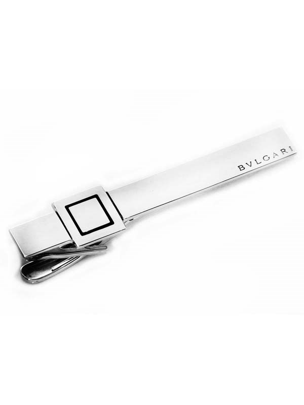 Bulgari Quadrato Sterling Silver Tie Bar