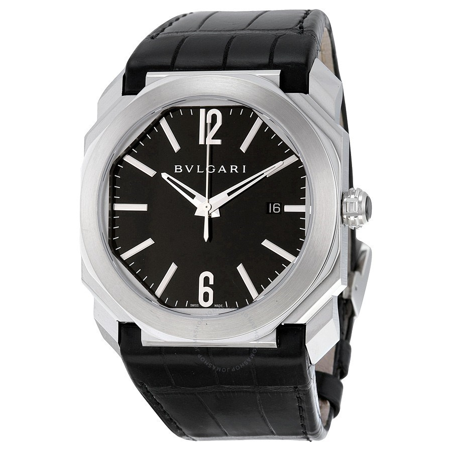 Bulgari 'Octo' 41mm automatic watch with satin finish
