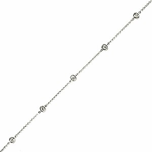 18ct White Gold 0.19ct Diamond Bracelet