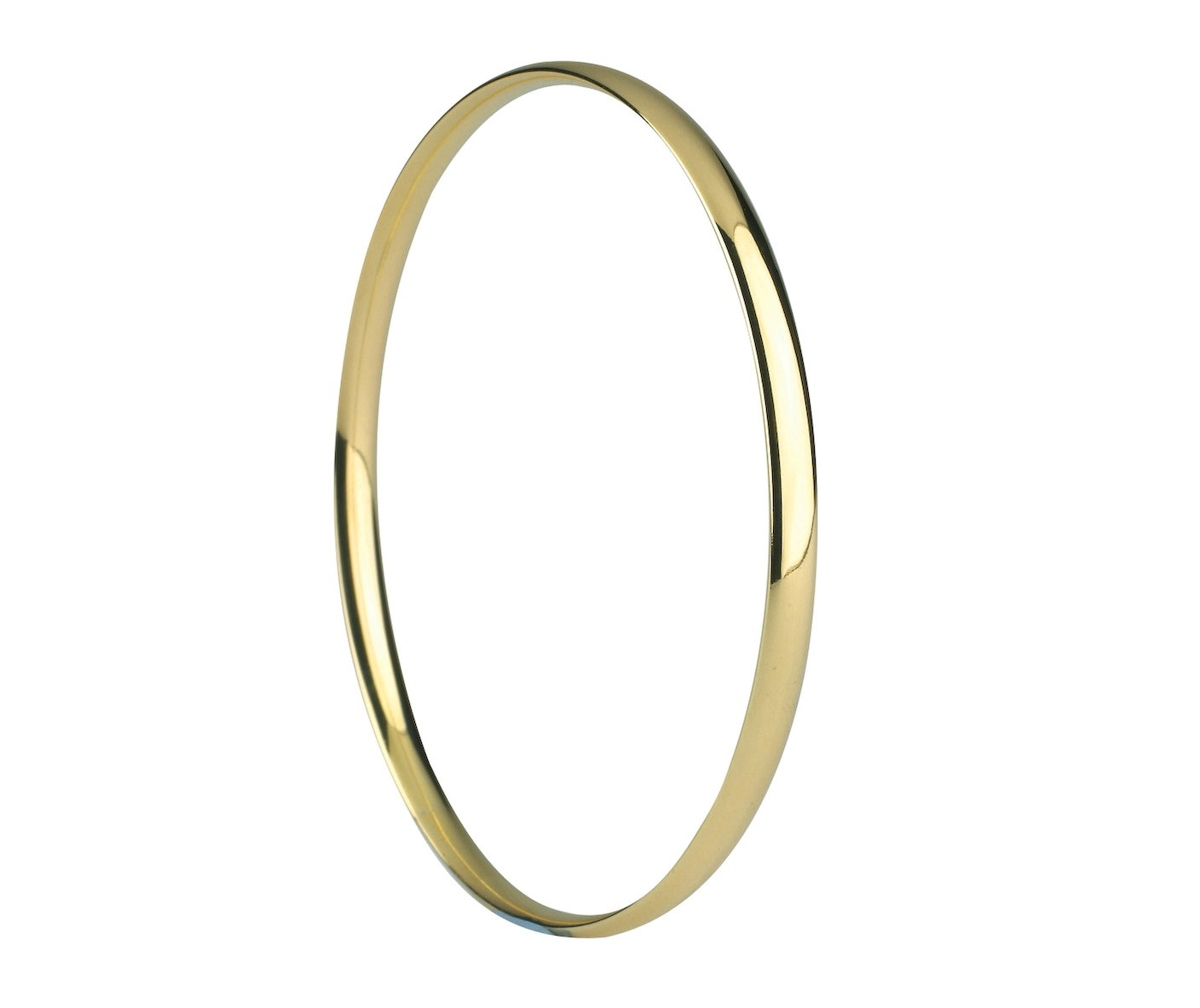 Yellow Gold hallmarked solid slave bangle