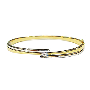 18ct Gold Diamond Set Bangle