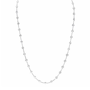 "18ct White Gold 56"" Diamond Sautoir Necklace"