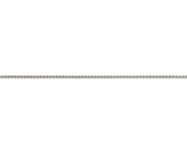 "18ct 18"" white gold medium round babt belcher link necklace"