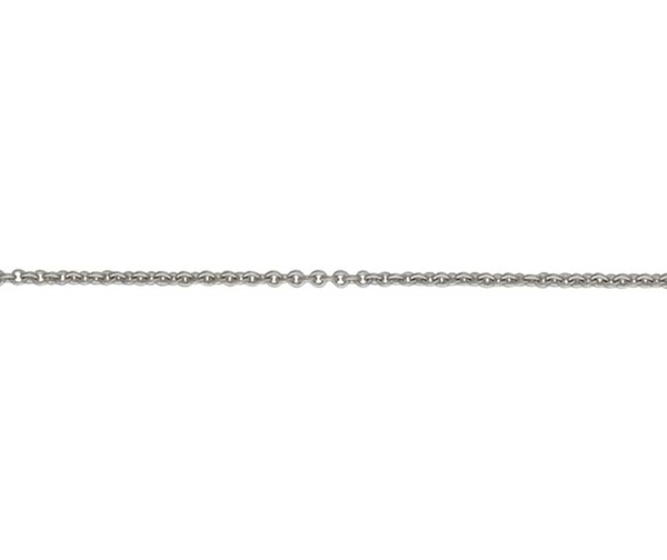 "18ct 16"" white gold light Trace link necklace"