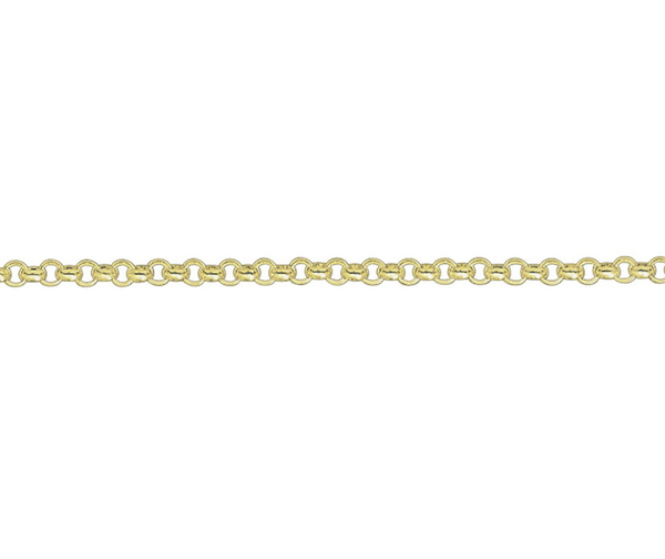 "18ct 18"" yellow gold medium Belcher link necklace"