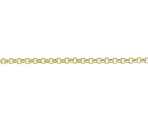 "18ct 16"" yellow gold medium Belcher link necklace"