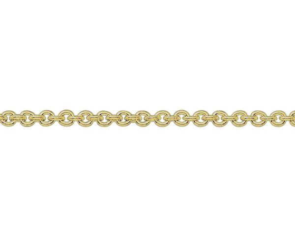 "18ct 18"" yellow gold medium Trace link necklace"