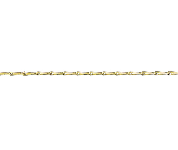 "18ct 16"" yellow gold heavy hayseed link necklace"