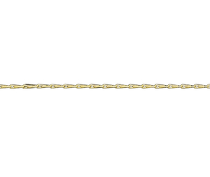 "18ct 16"" yellow gold light Hayseed link necklace"