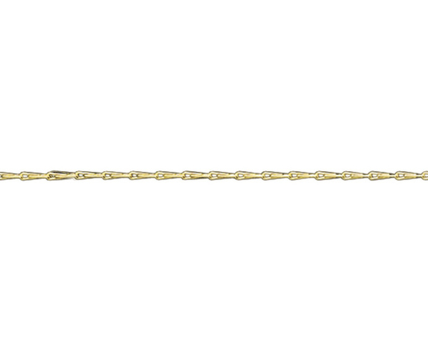 "18ct 18"" yellow gold light Hayseed necklace"